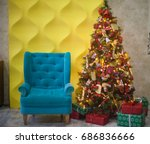 christmas and new year... | Shutterstock . vector #686836666