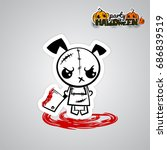 vector illustration sticker... | Shutterstock .eps vector #686839519