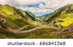 wonderful sunny scenery.... | Shutterstock . vector #686841568