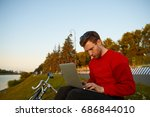 people  modern technology and... | Shutterstock . vector #686844010