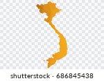 transparent   vector polygon... | Shutterstock .eps vector #686845438