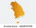 transparent   vector polygon... | Shutterstock .eps vector #686845498