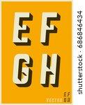 alphabet font template. set of...   Shutterstock .eps vector #686846434