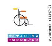 empty wheelchair icon | Shutterstock .eps vector #686847478