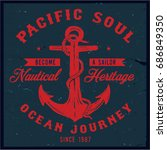 vintage nautical graphics and... | Shutterstock .eps vector #686849350