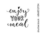 enjoy your meal. vector...