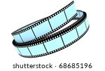 segment color film rolled up on ... | Shutterstock . vector #68685196