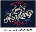 vintage nautical graphics and... | Shutterstock .eps vector #686852470