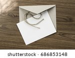 craft blank envelope and post... | Shutterstock . vector #686853148