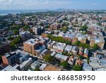 aerial photo bay ridge brooklyn ... | Shutterstock . vector #686858950