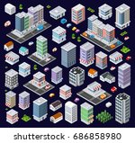 set of modern isometric... | Shutterstock .eps vector #686858980