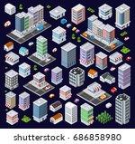 set of modern isometric... | Shutterstock .eps vector #686858980