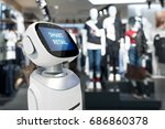 smart retail sales and crm...   Shutterstock . vector #686860378