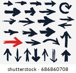 painted arrows collection.... | Shutterstock .eps vector #686860708