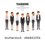 group people business and... | Shutterstock .eps vector #686861056