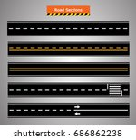 road icon transportation set ... | Shutterstock .eps vector #686862238