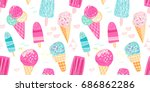 Ice Cream Pattern With Pink And ...