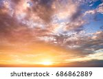 early morning in heaven  | Shutterstock . vector #686862889