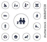 set of 13 people icons set...