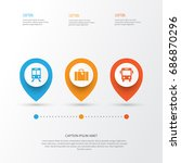 exploration icons set.... | Shutterstock .eps vector #686870296