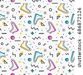 Stylish Seamless Pattern With...