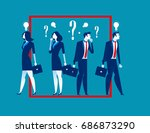 think outside the box. business ... | Shutterstock .eps vector #686873290