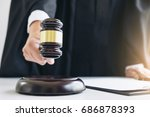 close up of male lawyer or... | Shutterstock . vector #686878393