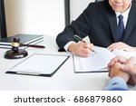 business people and lawyers... | Shutterstock . vector #686879860