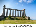 view of national monument of... | Shutterstock . vector #686880904