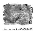 black watercolor stain.... | Shutterstock .eps vector #686881690
