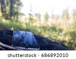 phone outdoors | Shutterstock . vector #686892010