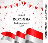17 august. indonesia happy... | Shutterstock .eps vector #686896000