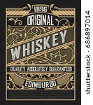 vintage label for packing | Shutterstock .eps vector #686897014