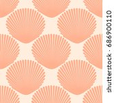 Seamless Pattern With Seashell...
