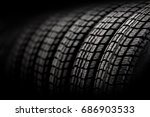 new winter tires in a row.... | Shutterstock . vector #686903533