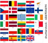 all flags of the countries of... | Shutterstock . vector #686904694