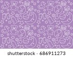 pattern. vector art baby stuff. ... | Shutterstock .eps vector #686911273