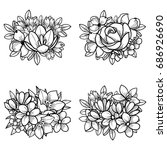 flower set | Shutterstock .eps vector #686926690