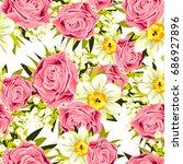 abstract elegance seamless... | Shutterstock . vector #686927896