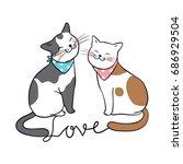 vector illustration character... | Shutterstock .eps vector #686929504