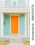 Bright Colored Front Door Of...