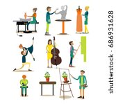 icons set of artistic... | Shutterstock . vector #686931628