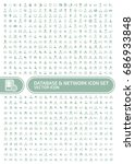 database and network icon set... | Shutterstock .eps vector #686933848