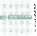 business and finance icon set... | Shutterstock .eps vector #686933869