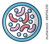 bacteria under microscope icon. ... | Shutterstock .eps vector #686936230