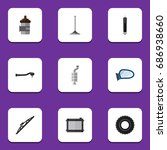flat icon component set of... | Shutterstock .eps vector #686938660