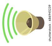 sound louder icon. cartoon... | Shutterstock .eps vector #686945239