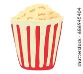 popcorn icon. cartoon... | Shutterstock .eps vector #686945404