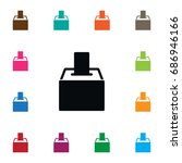 isolated voting box icon.... | Shutterstock .eps vector #686946166
