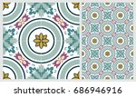 arabic patter style tiles for... | Shutterstock .eps vector #686946916